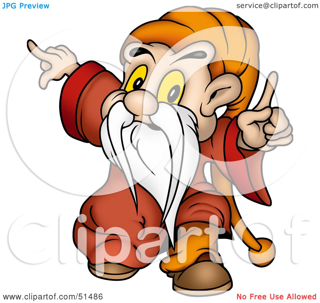 Gnome Clip Art: Royalty-Free (RF) Clipart Illustration Of A Little Male