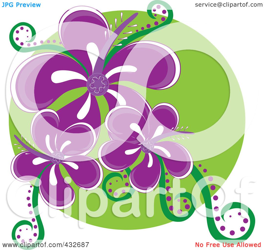 Royalty Free Rf Clipart Illustration Of A Logo Of Three Purple