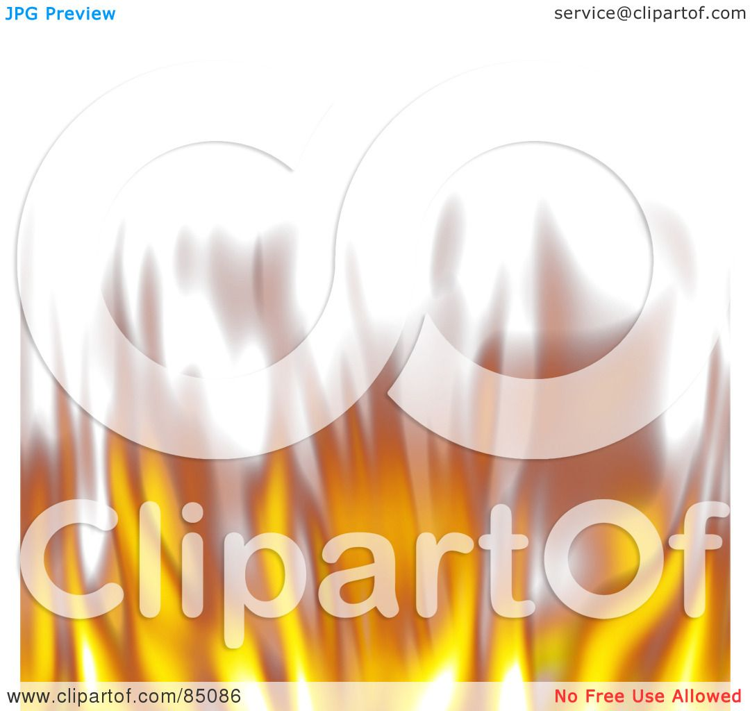 Flames white background border flame border w pictures to pin on - Royalty Free Rf Clipart Illustration Of A Lower Border Of Blurry Flickering Flames On White By Arena Creative