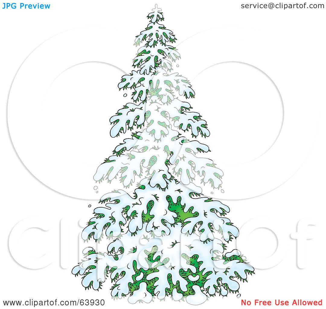 Royalty-Free (RF) Clipart Illustration of a Lush Evergreen ...