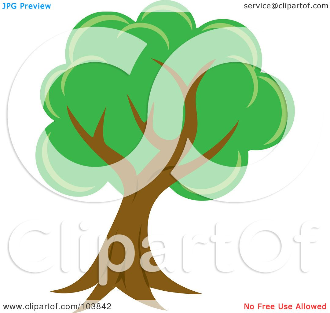Royalty-Free (RF) Clipart Illustration of a Lush Mature Tree With ...
