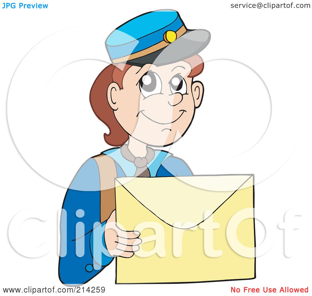 RoyaltyFree Rf Clipart Illustration Of A Mail Man Carrying A