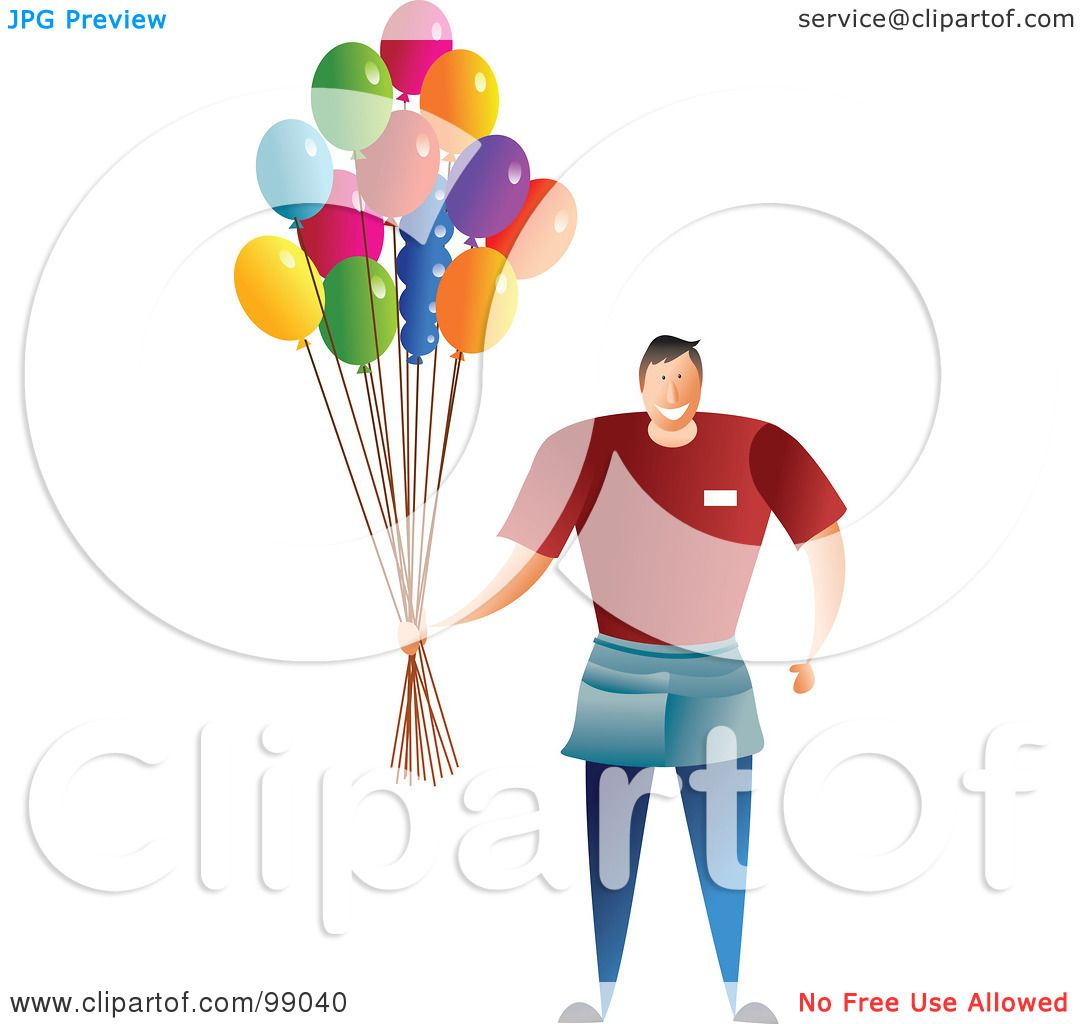 Balloon Man Drawing a Male Balloon Man Holding