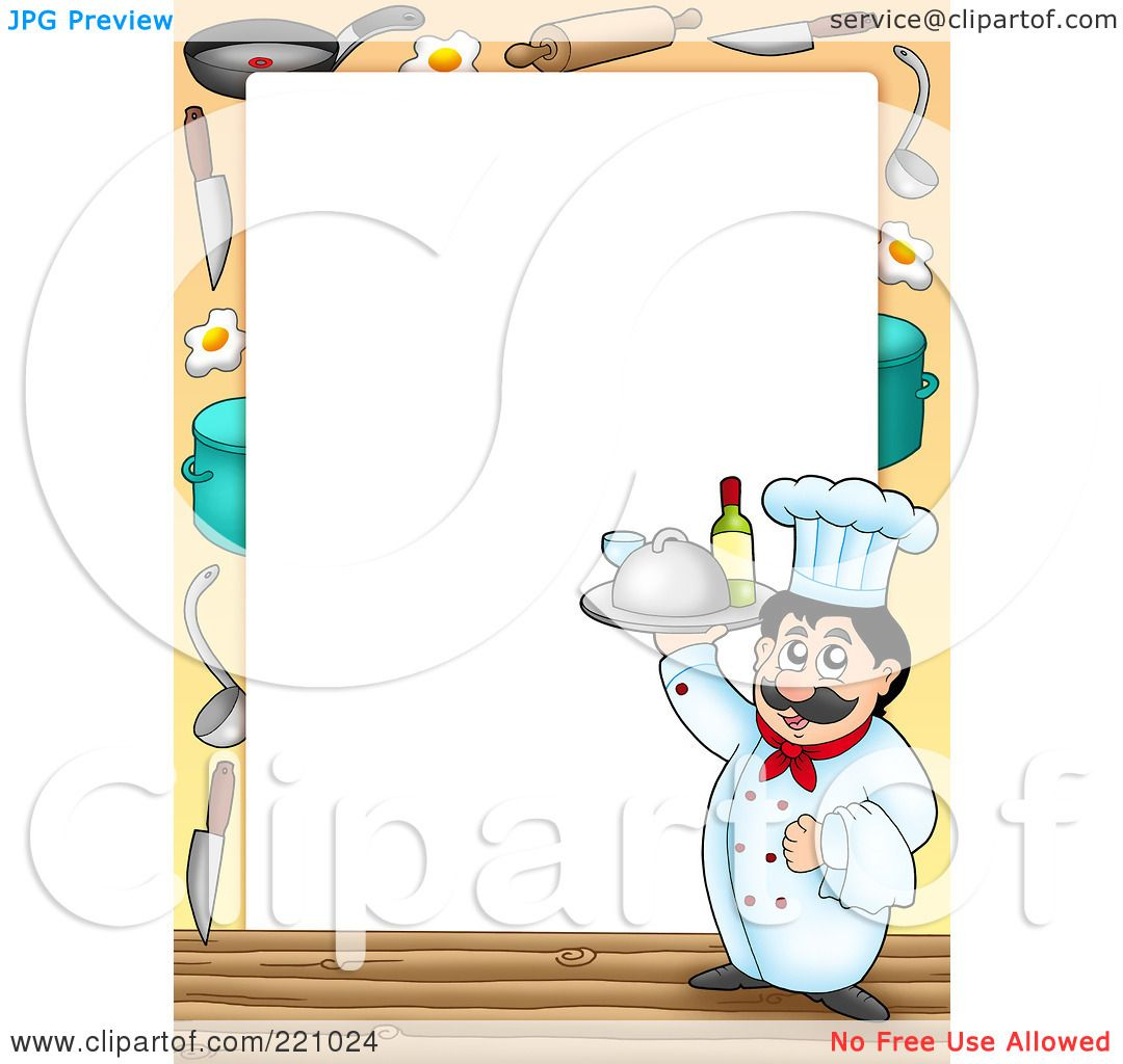Royalty-Free (RF) Clipart Illustration Of A Male Chef