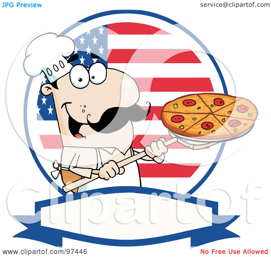 Royalty-Free (RF) Clipart Illustration of a Male Pizzeria ...