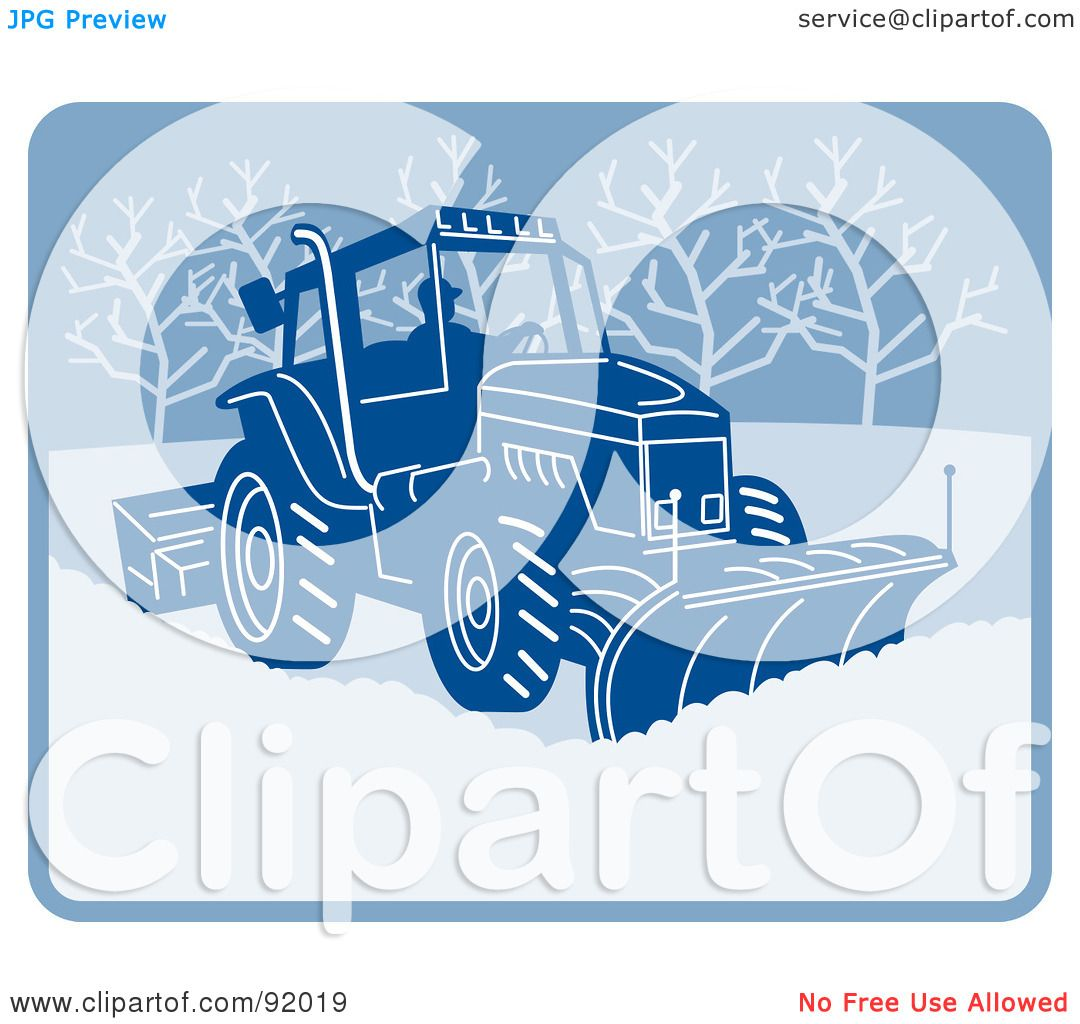Royalty-Free (RF) Clipart Illustration of a Man Operating A Snow ...