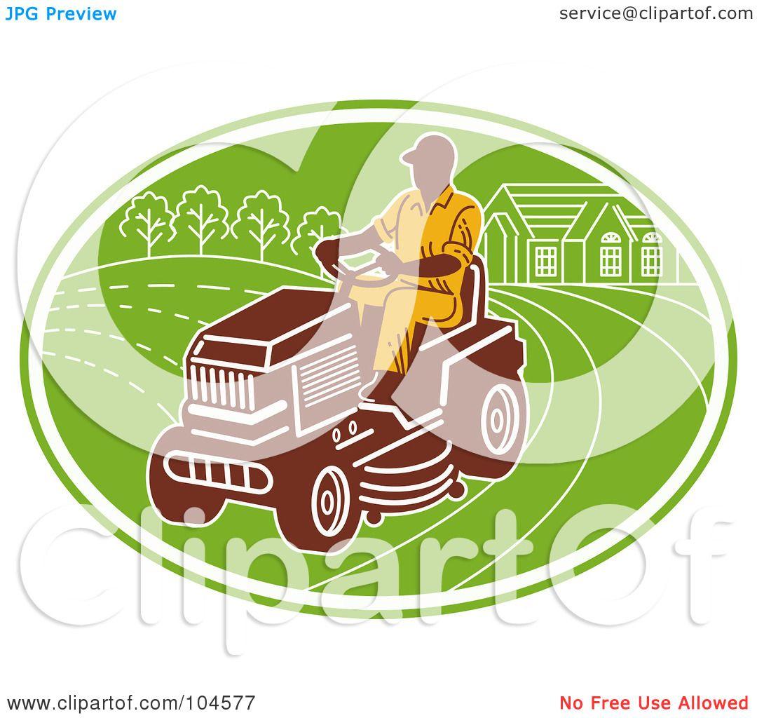 royalty rf clipart illustration of a man opering a ride on royalty rf clipart illustration of a man opering a ride on lawn mower logo by patrimonio