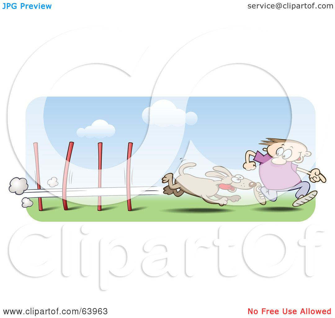 Royalty-Free (RF) Clipart Illustration of a Man Running Alongside ...