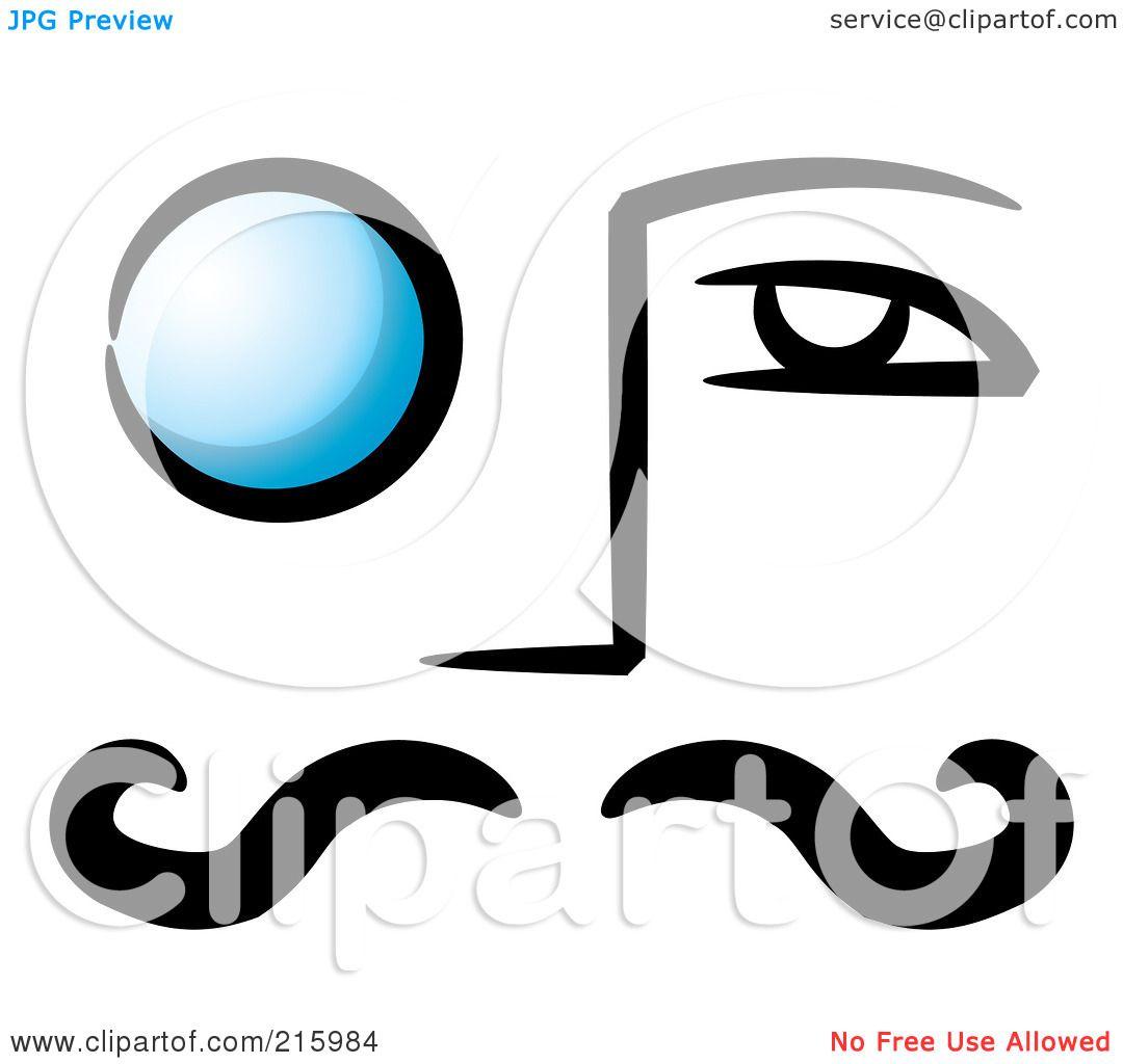 Monocle Reading Glasses Clip Art