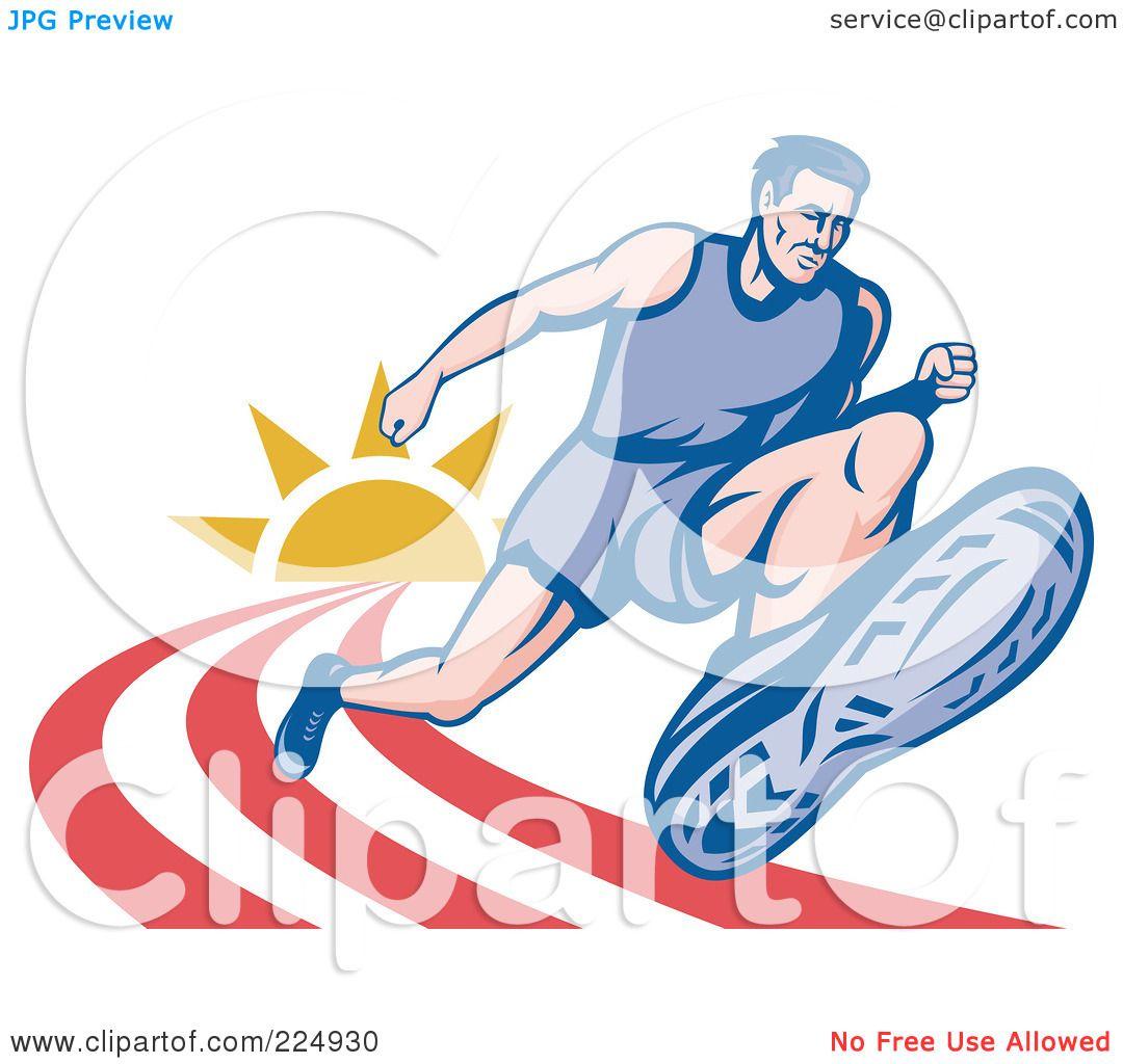 Marathon Runner Logo of a Marathon Runner on a