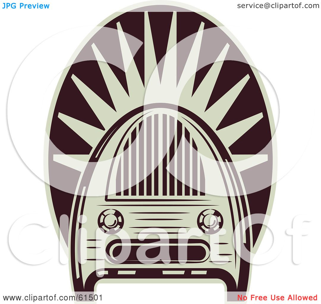 Royalty-free (RF) Clipart Illustration of a Maroon And White ...