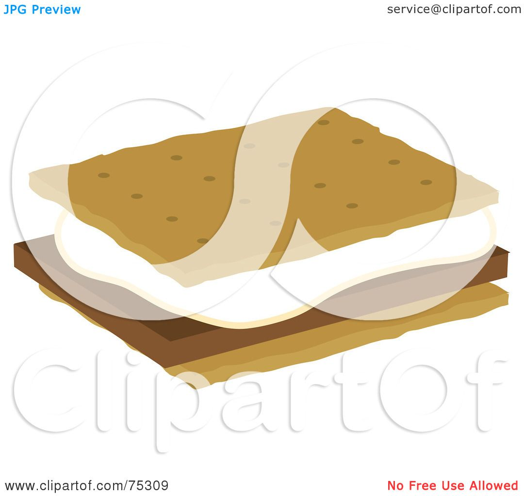 royalty free rf clipart illustration of a marshmallow and rh clipartof com smore clipart 48082 s'more clipart free