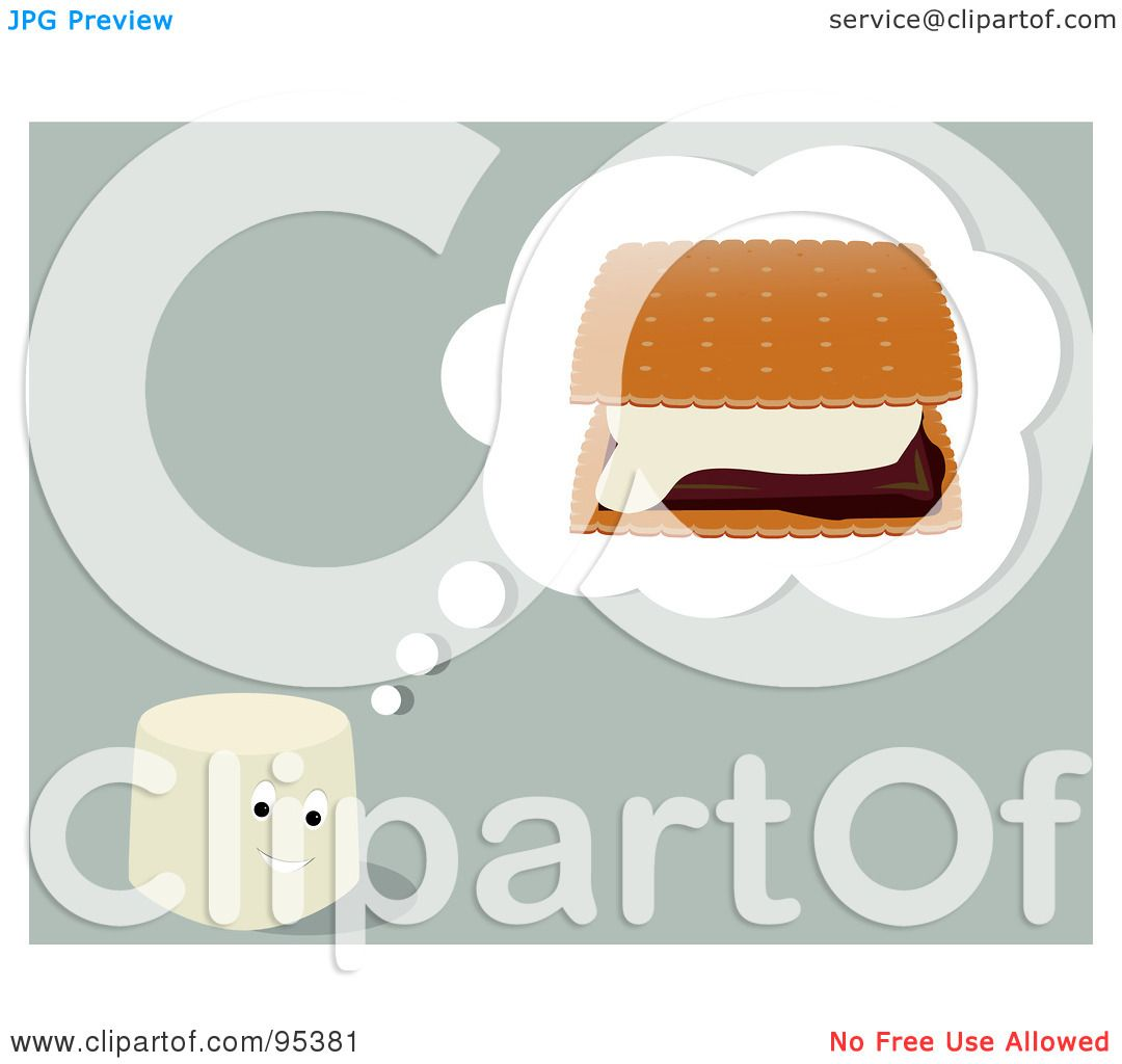 S'mores Clip Art http://www.clipartof.com/portfolio/randomway/illustration/marshmallow-bar-thinking-of-smores-95381.html