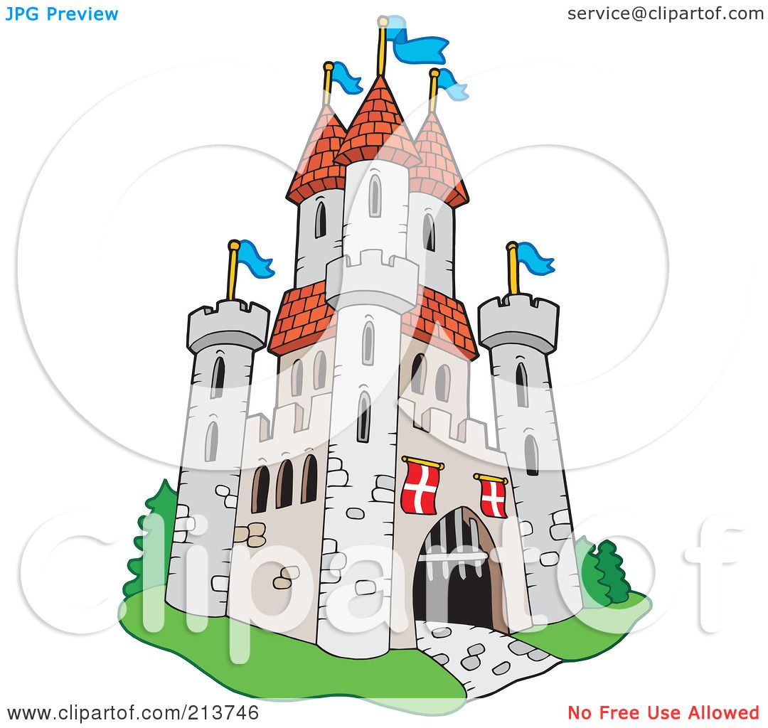 Royalty-Free (RF) Clipart Illustration of a Medieval Castle - 1 by ...