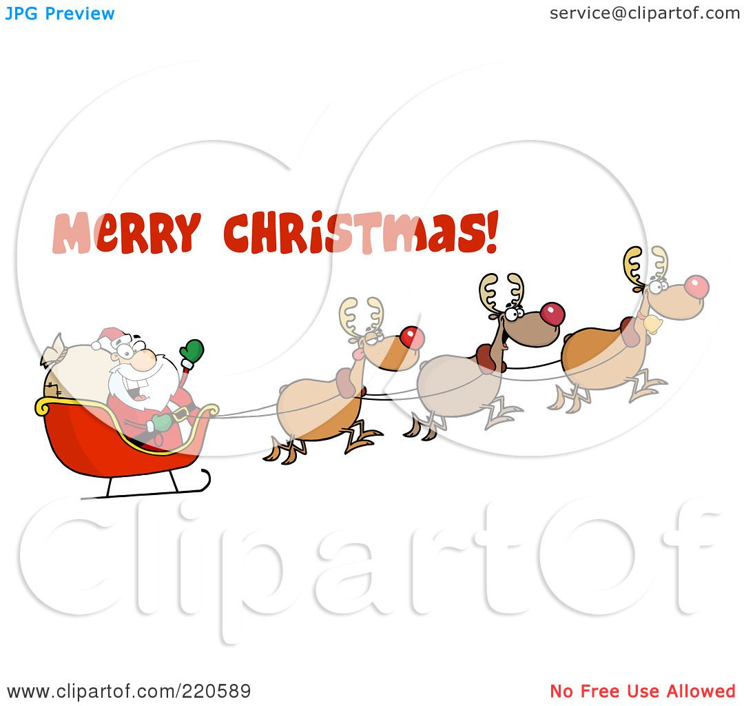 Royalty Free Rf Clipart Illustration Of A Merry Christmas Greeting