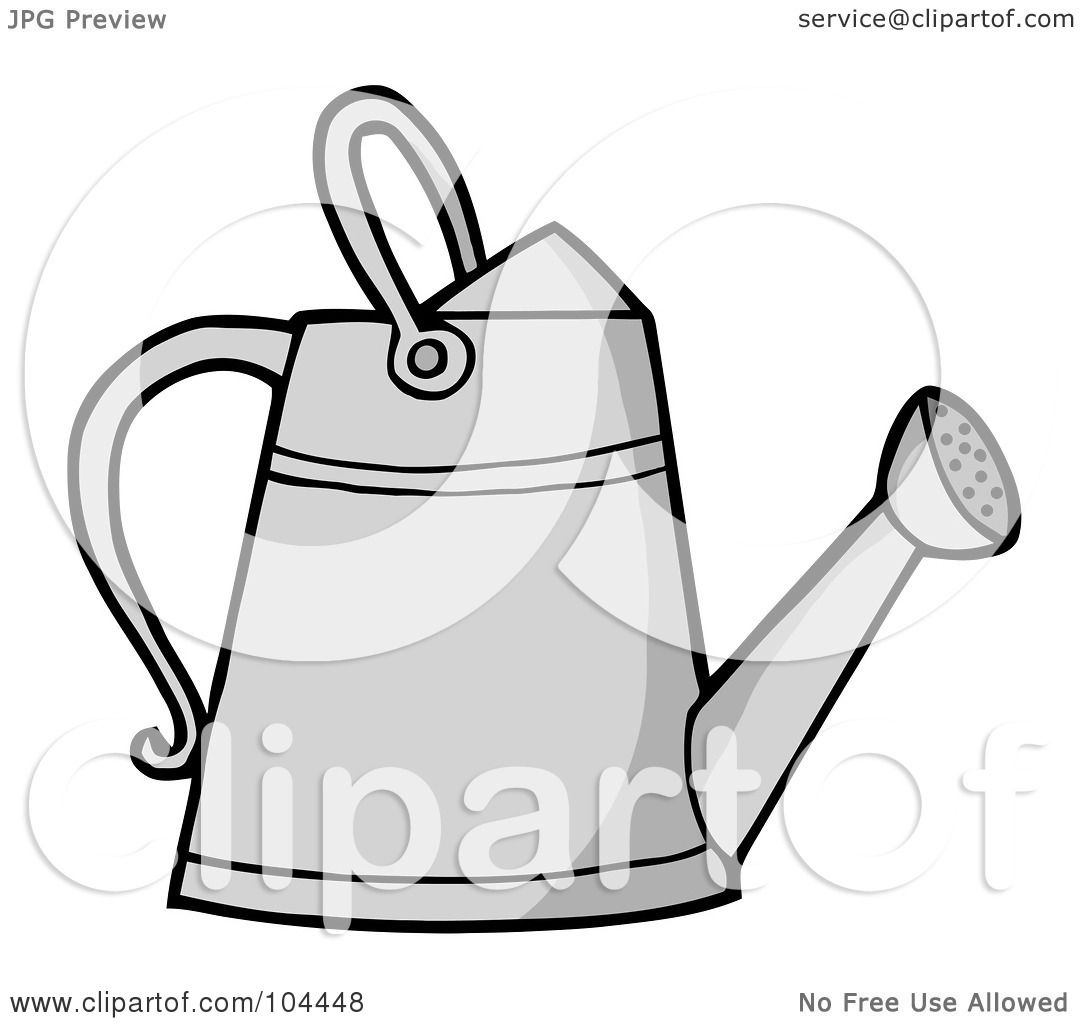 royalty free rf clipart illustration of a metal gardening