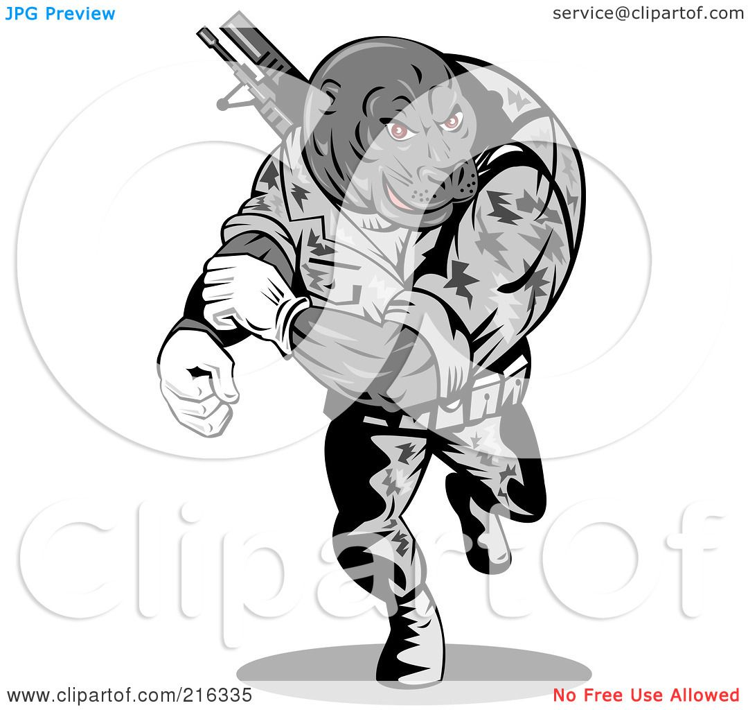 Royalty free rf clipart illustration of a military seal