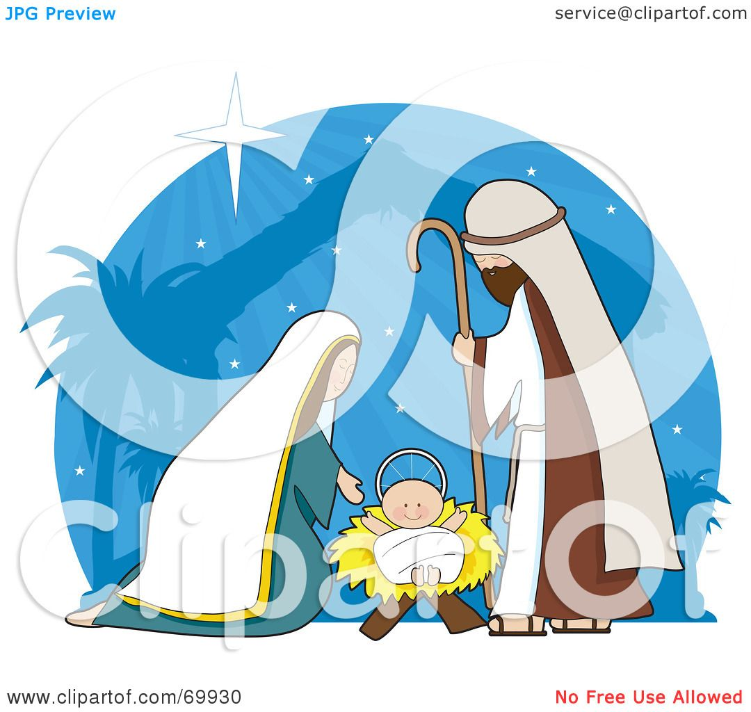 Royalty Free Rf Clipart Illustration Of A Nativity Scene