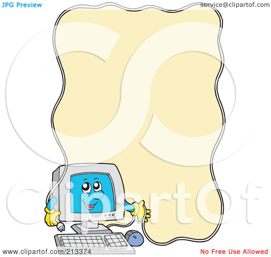 Royalty-Free (RF) Clipart Illustration of a PC Character With A ...
