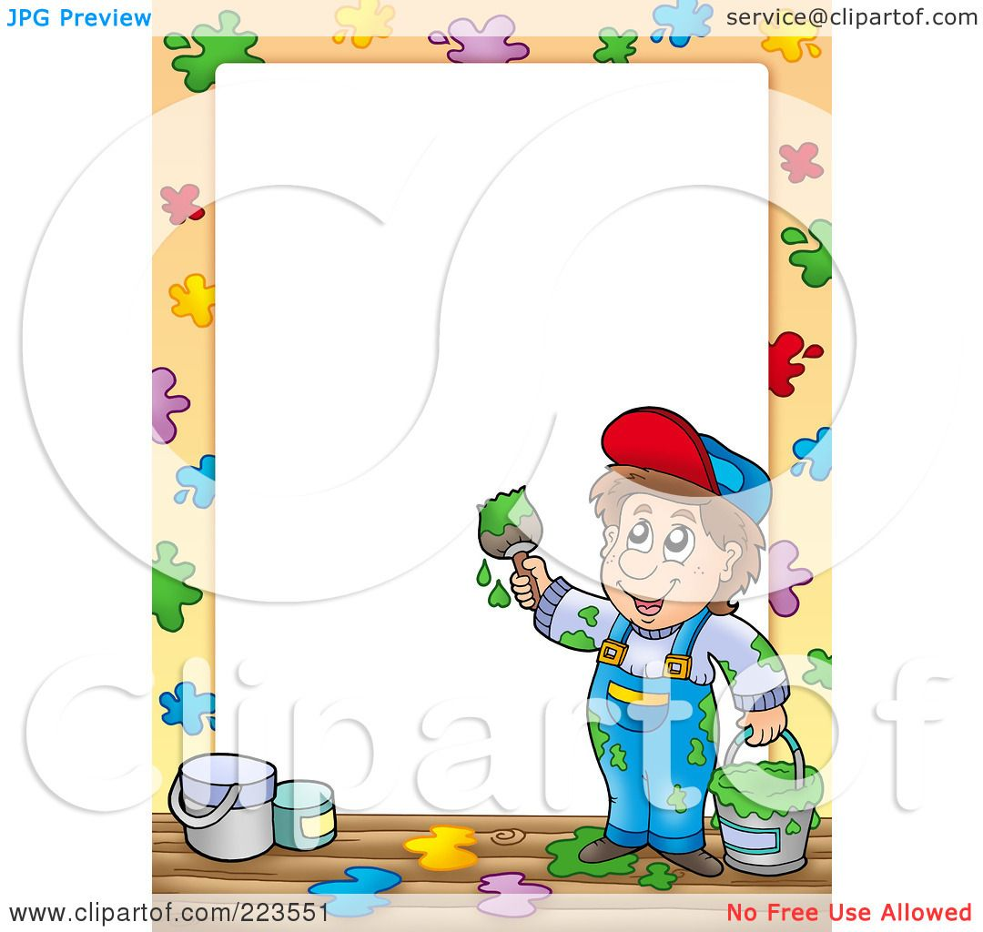 Royalty Free RF Clipart Illustration Of A Painter Border Frame Around White Space 2 1024223551 including free construction coloring pages 1 on free construction coloring pages furthermore free construction coloring pages 2 on free construction coloring pages including kermit the frog coloring pages on free construction coloring pages as well as free construction coloring pages 4 on free construction coloring pages