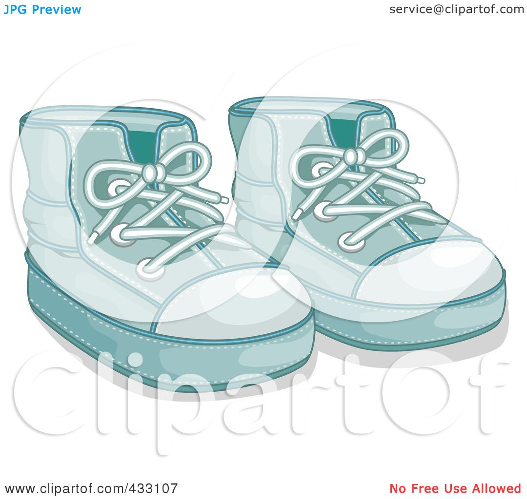 Royalty-Free (RF) Clipart Illustration of a Pair Of Blue Boy s Baby Shoes -  1 by BNP Design Studio 7f3da511ab