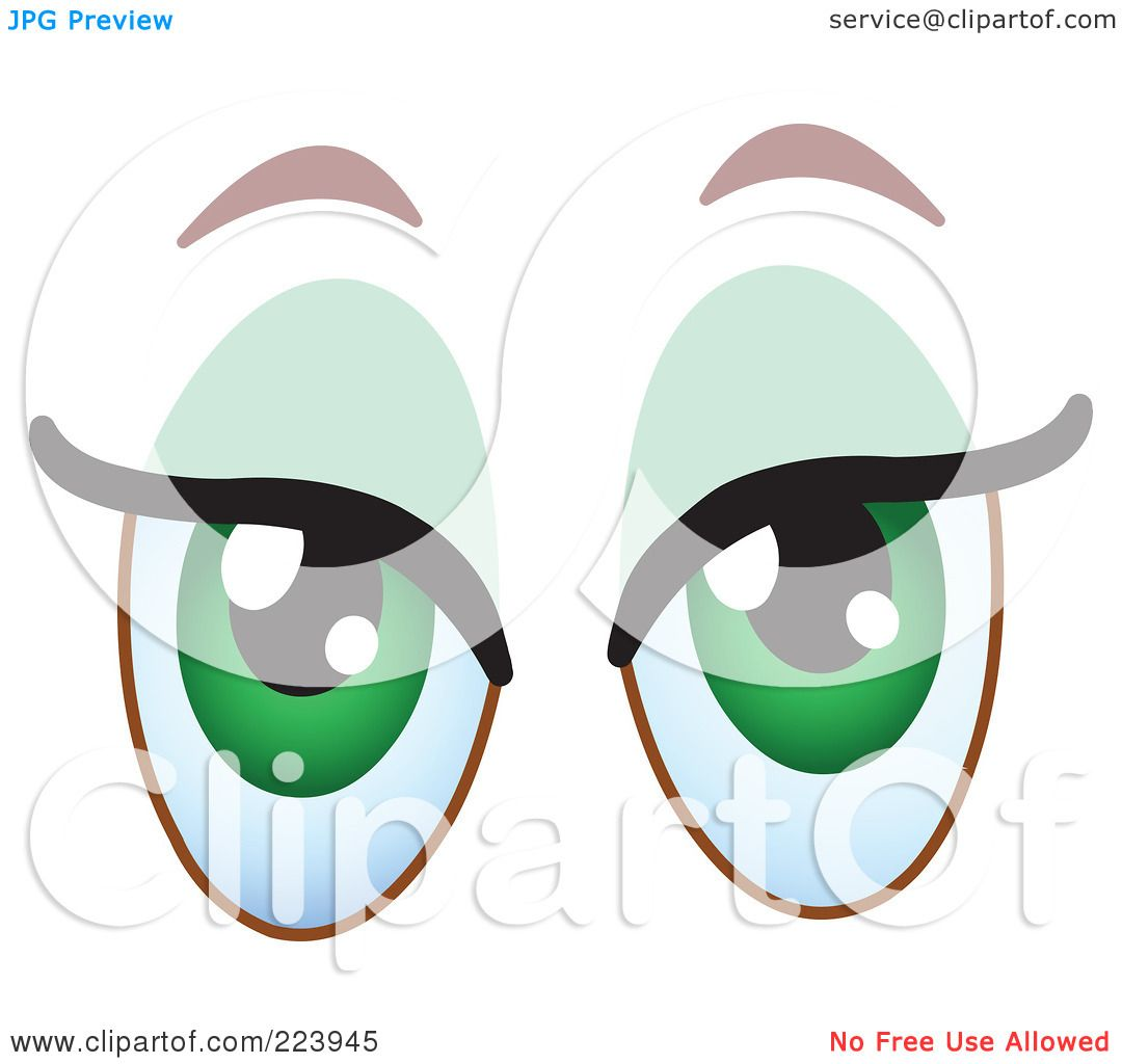Royalty-Free (RF) Clipart Illustration of a Pair Of Flirty ...