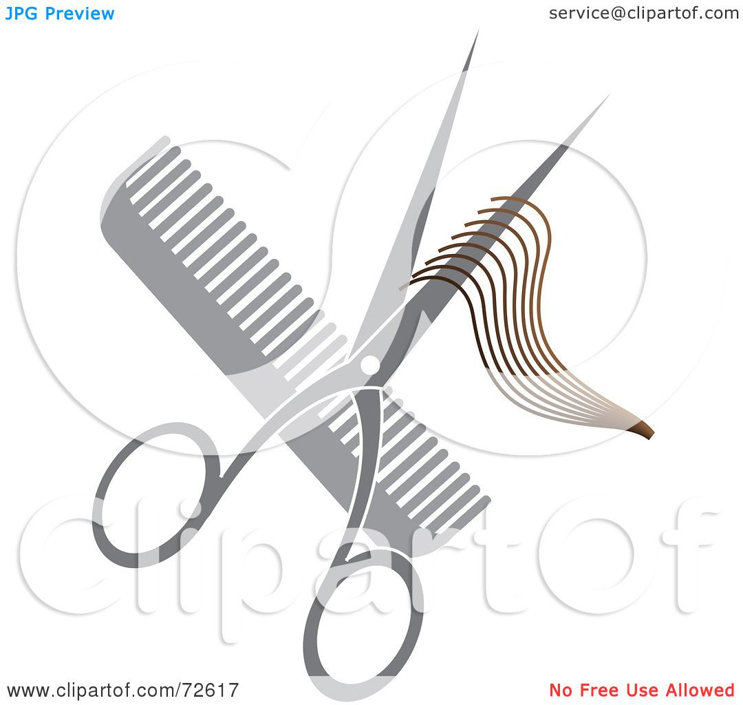Royalty Free RF Clipart Illustration Of A Pair Of Shears