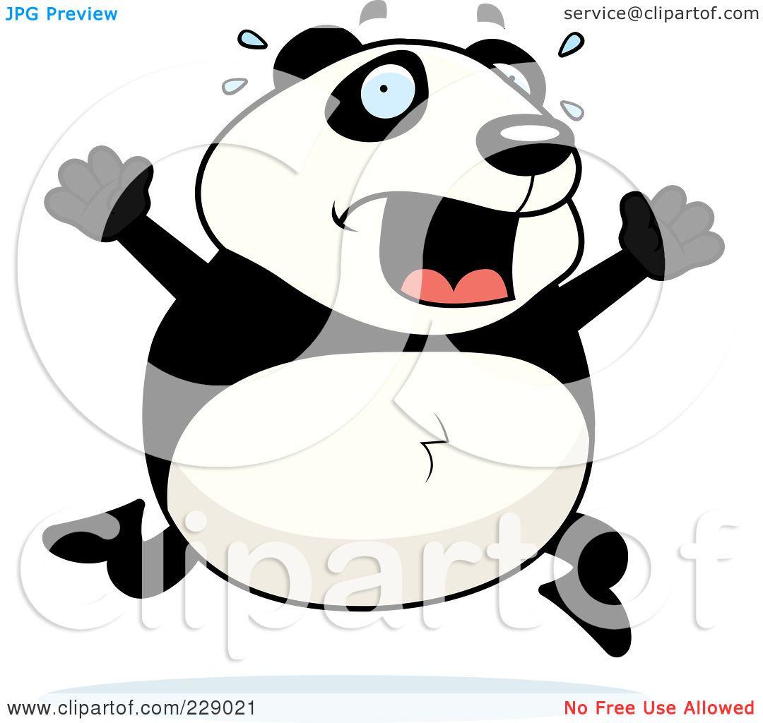 clipart panda running - photo #5