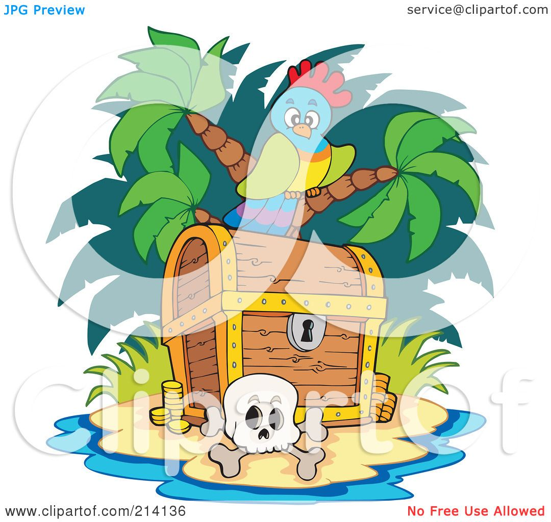 Royalty-Free (RF) Clipart Illustration of a Parrot And ...