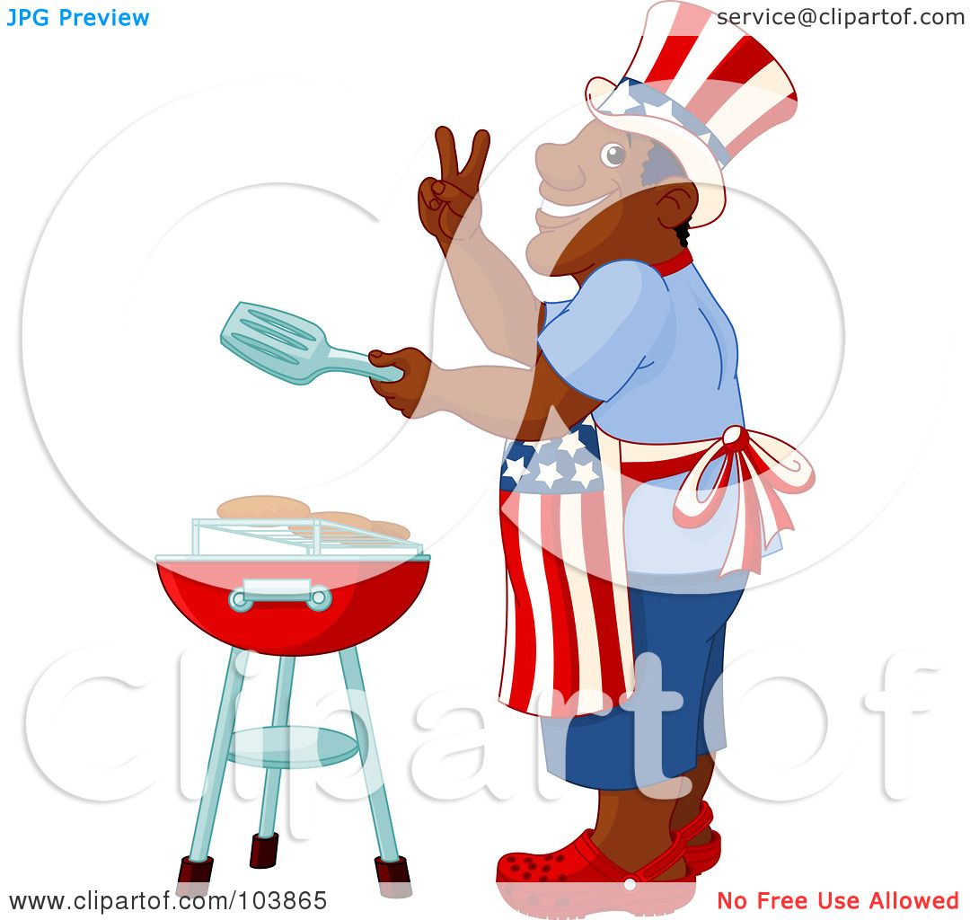 Royalty-Free  RF  Clipart  Labor Day Picnic Clipart