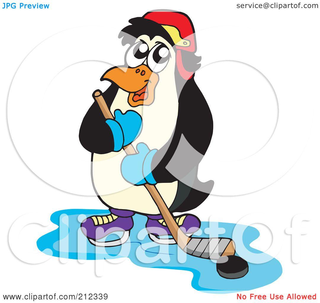RoyaltyFree RF Clipart Illustration of a Penguin