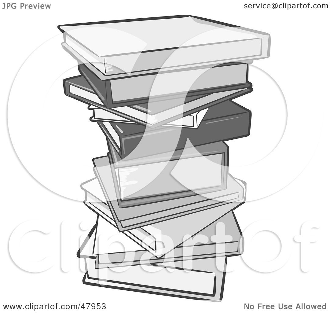 Royalty-Free (RF) Clipart Illustration of a Pile Of Gray School Or ...