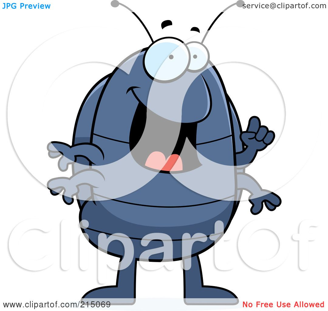 Royalty-Free (RF) Clipart Illustration of a Pill Bug With An Idea ...