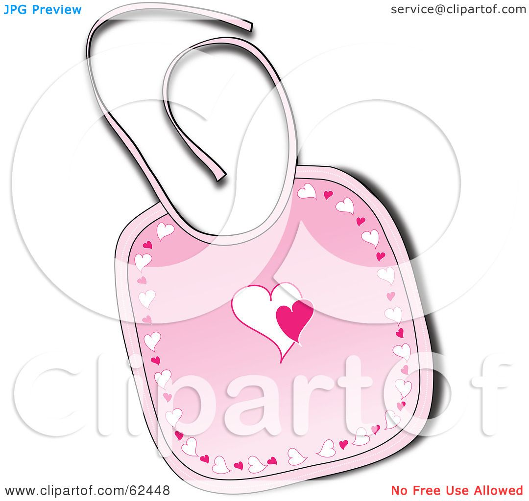 Royalty Free Rf Clipart Illustration Of A Pink Baby Bib