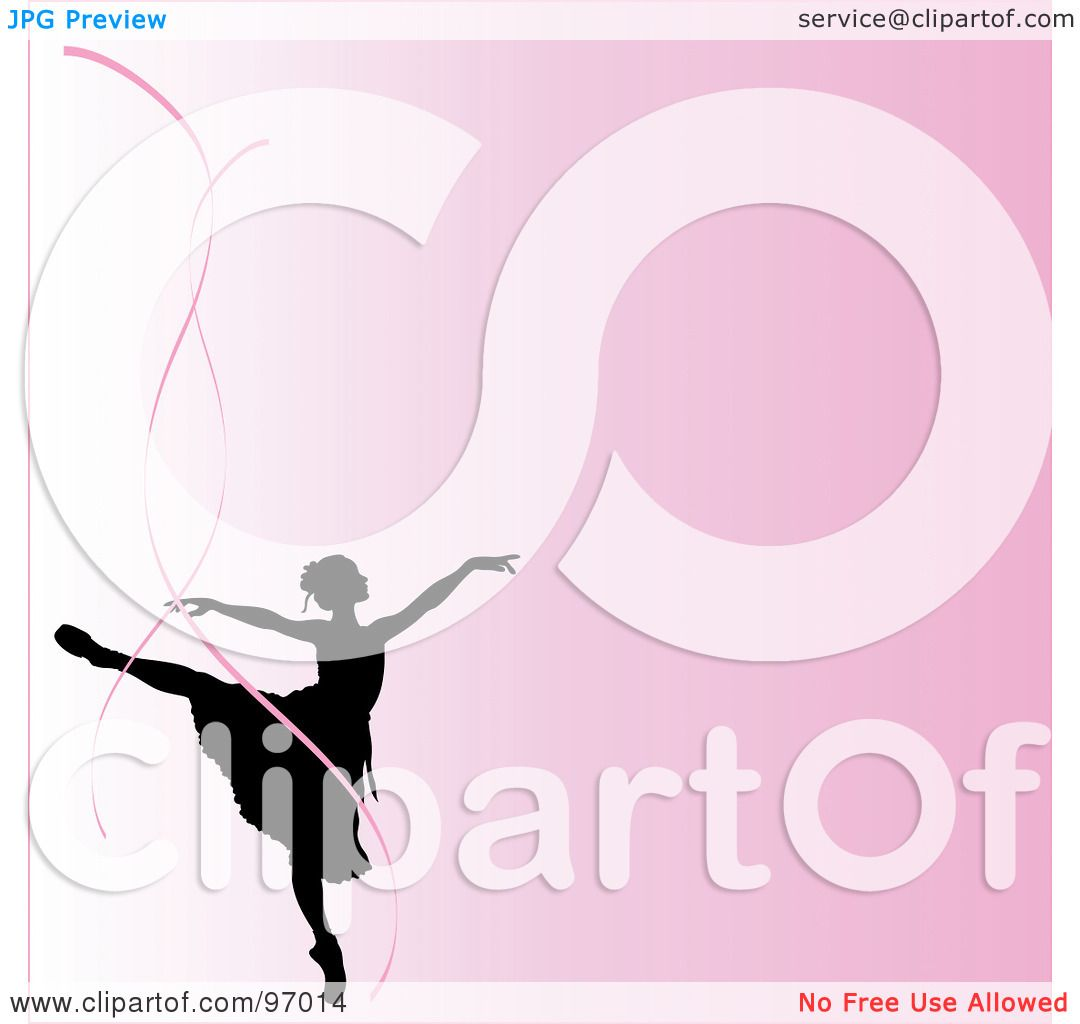 royalty free rf clipart illustration of a pink ballerina