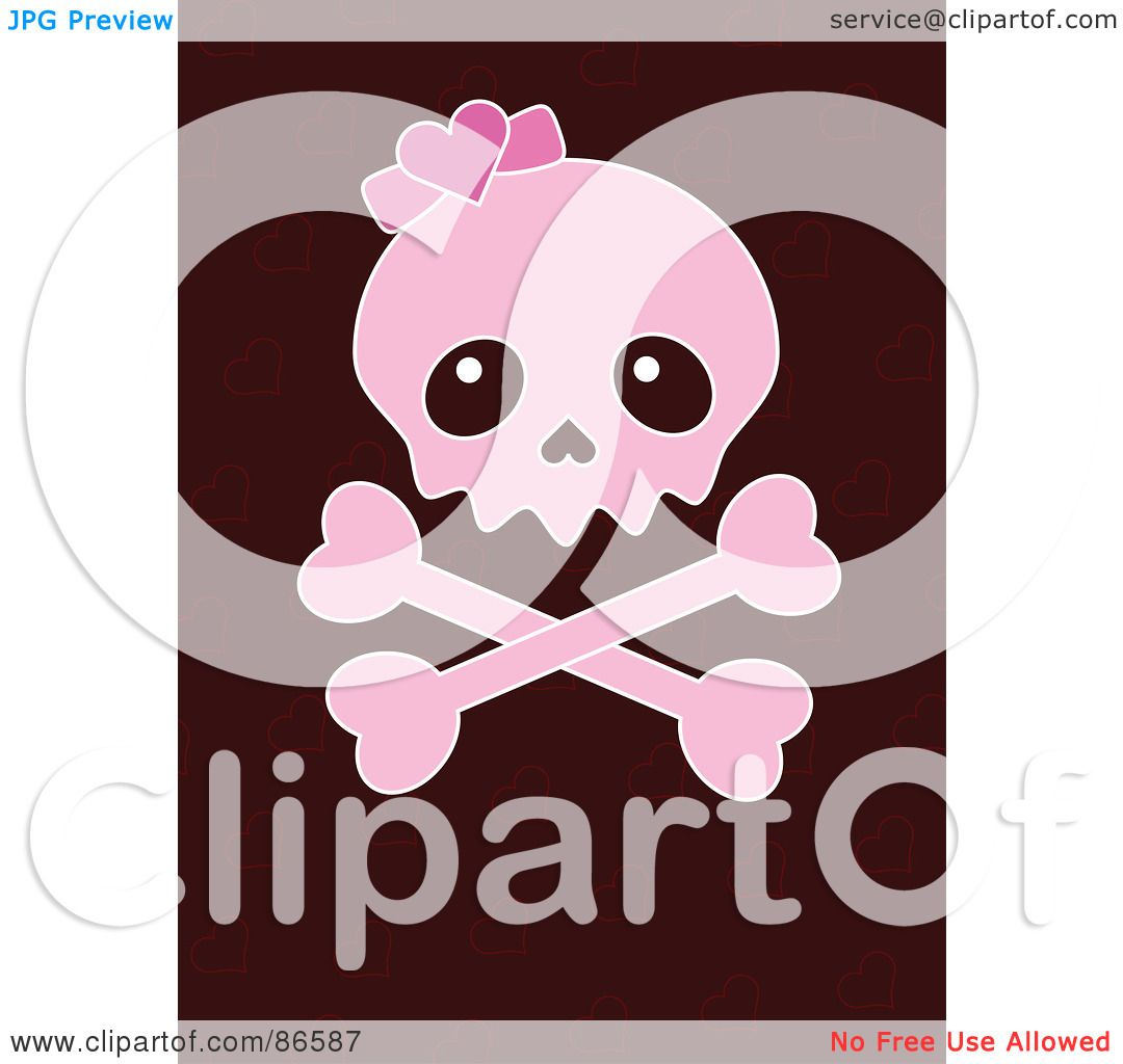 Royalty Free Rf Clipart Illustration Of A Pink Girly