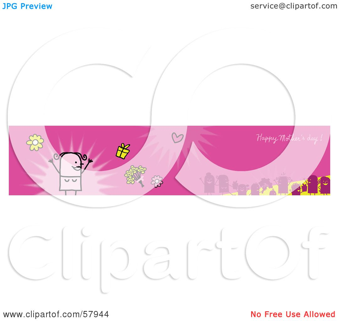 Royalty-Free (RF) Clipart Illustration of a Pink Happy ...