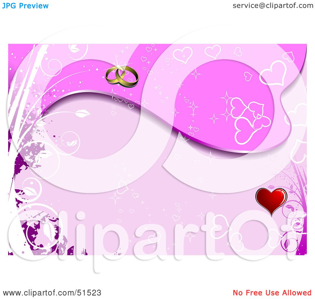 Royalty-Free (RF) Clipart Illustration of a Pink Heart Background ...