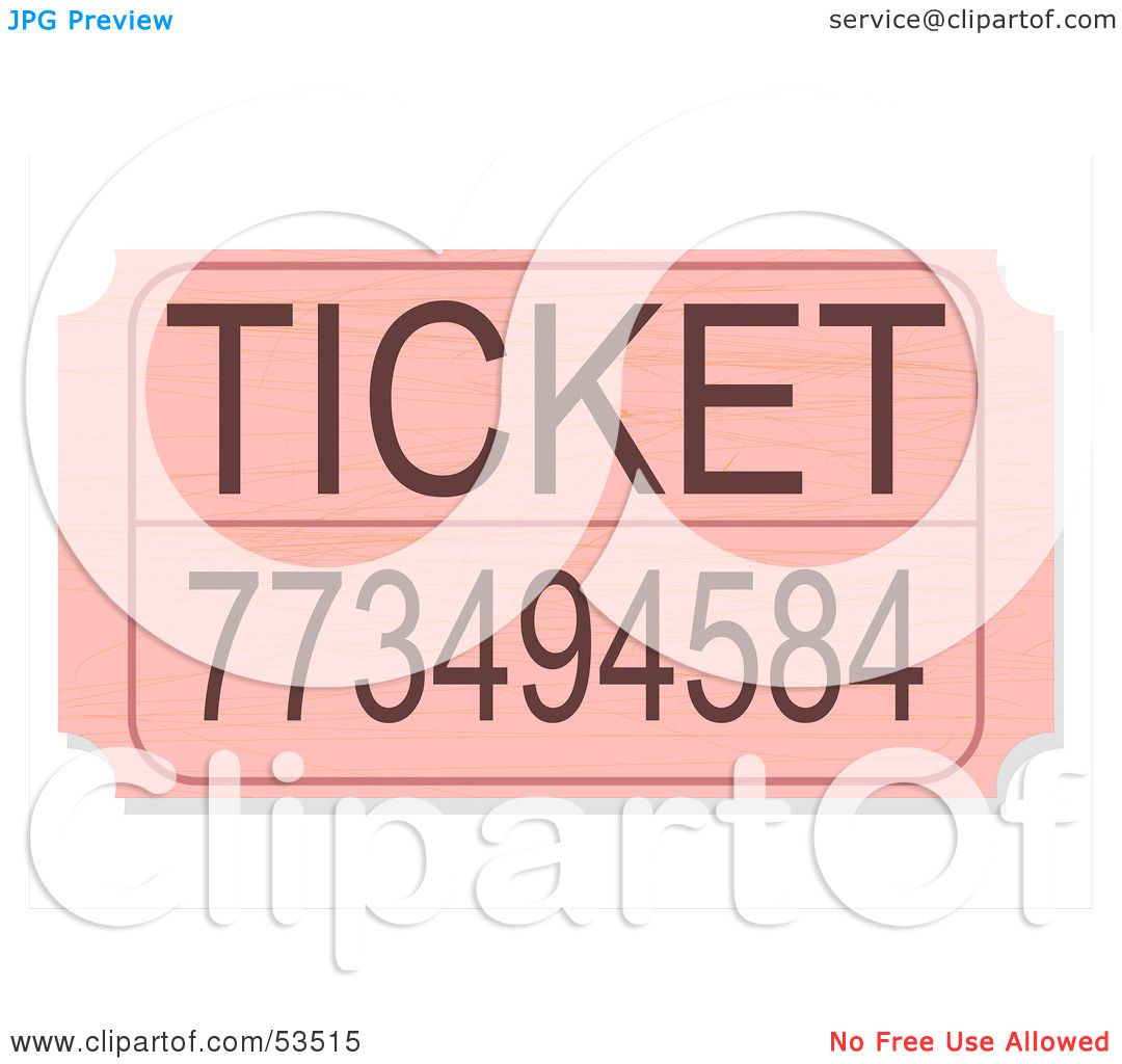 royalty rf clipart illustration of a pink raffle ticket royalty rf clipart illustration of a pink raffle ticket a number by david barnard