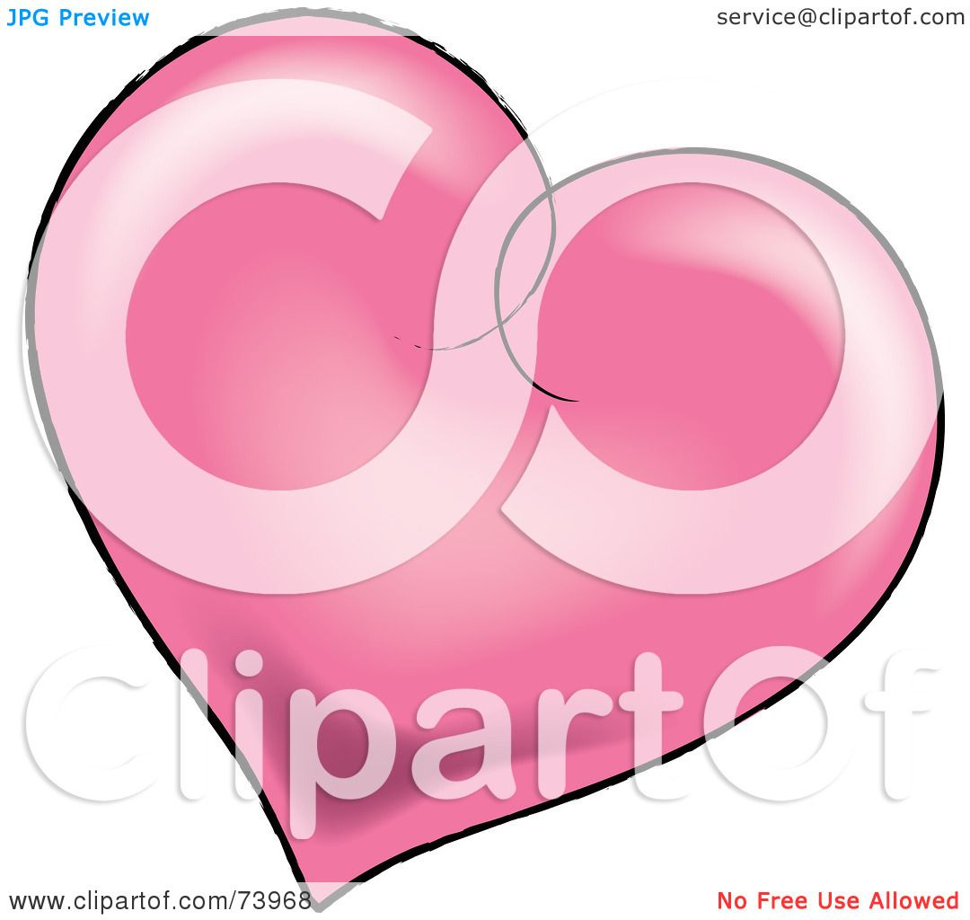 Hot Pink Heart Clip Art Royalty-free (rf) clipart