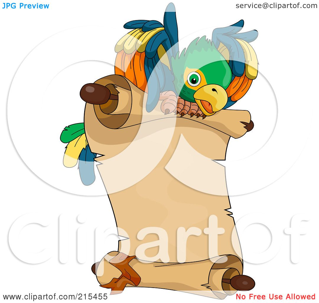 royalty free rf clipart illustration of a pirate parrot flying a