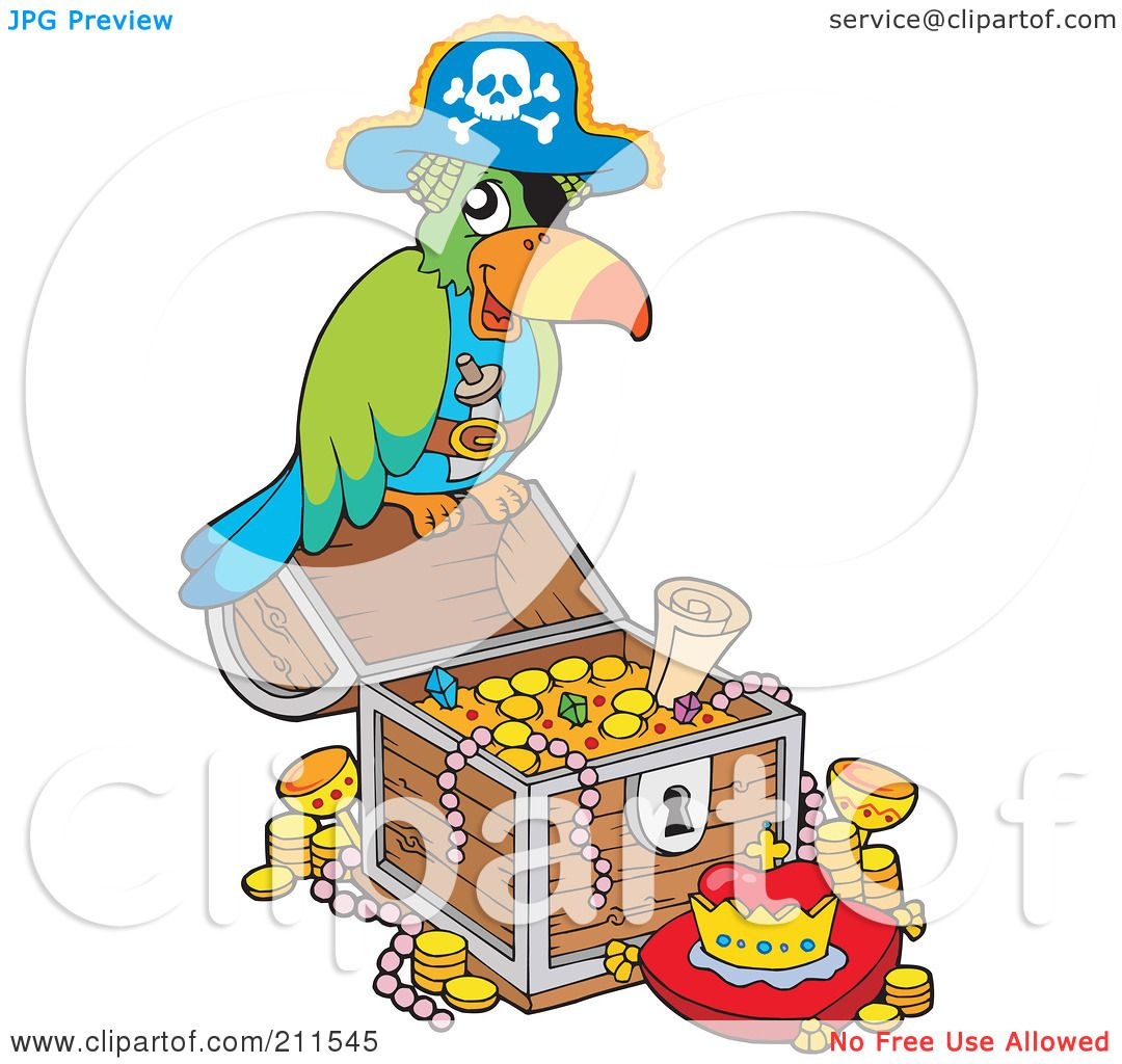 royalty free rf clipart illustration of a pirate parrot with