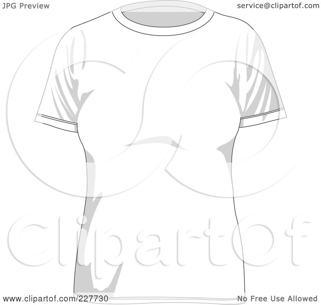 T shirt black and white clipart - Royalty Free Rf Clipart Illustration Of A Plain White Women S T Shirt By Yayayoyo
