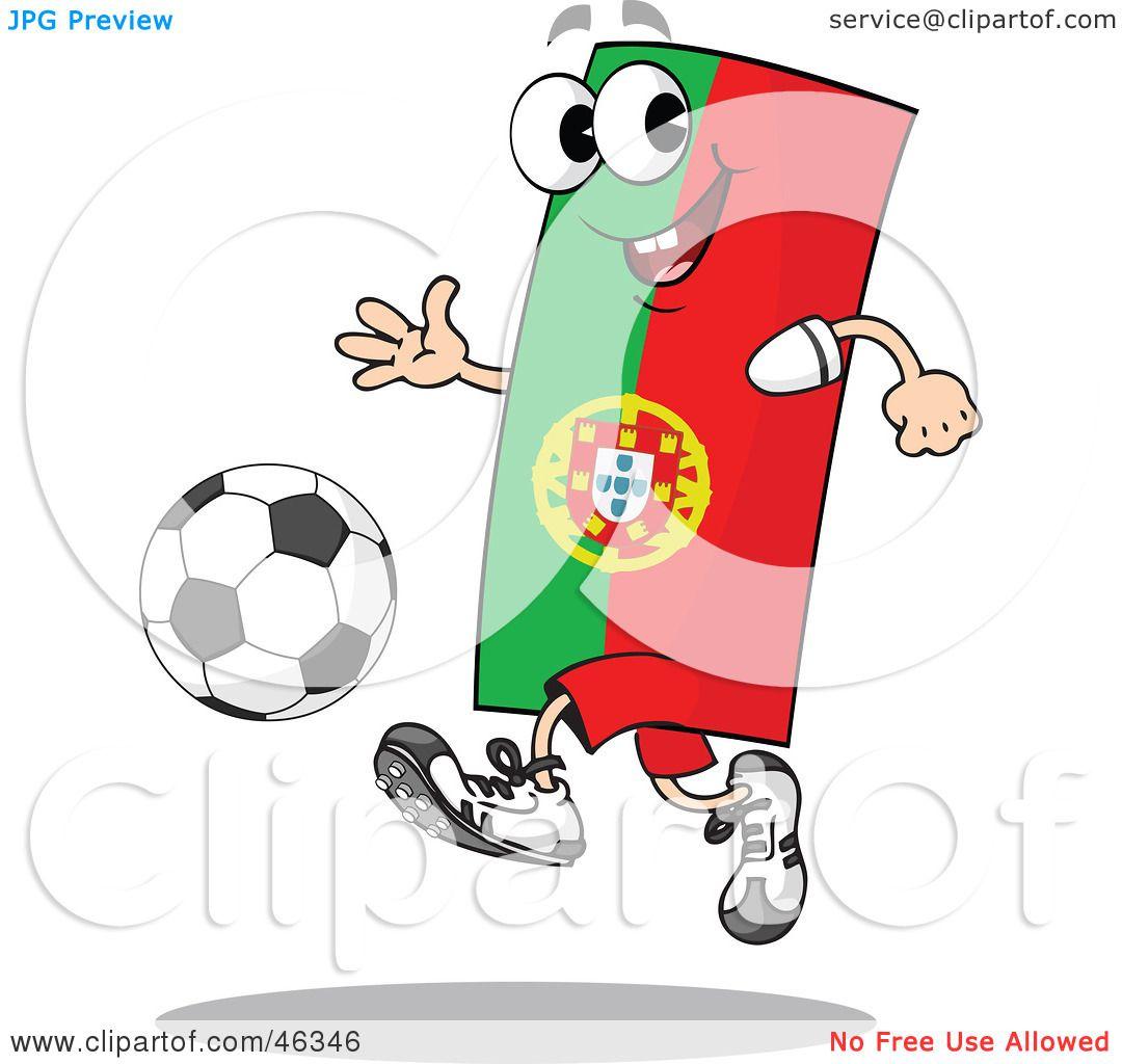 royalty free rf clipart illustration of a portugal flag playing soccer by holger bogen 46346. Black Bedroom Furniture Sets. Home Design Ideas
