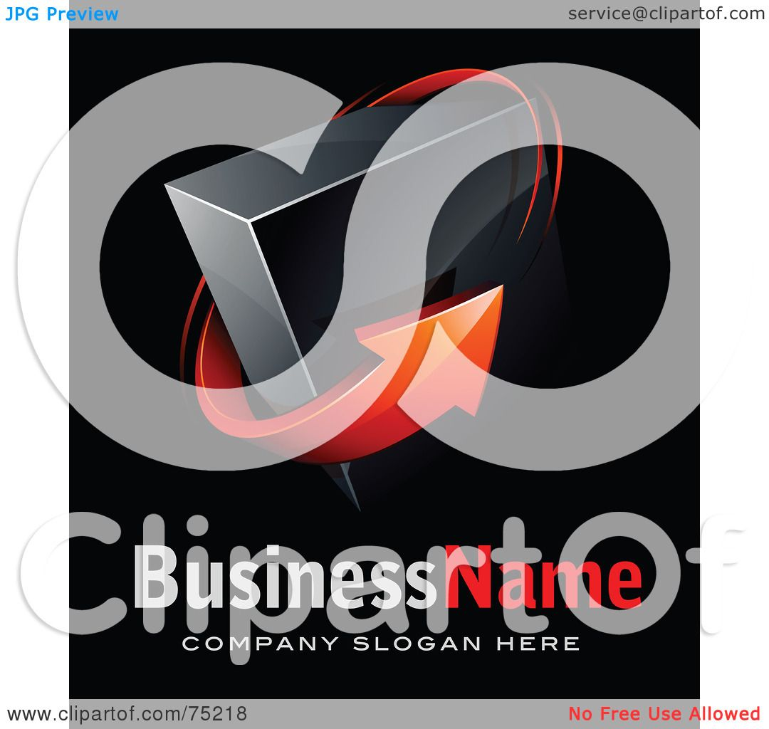 ... Made Business Logo Of A Red Arrow Around A Black Box On Black by beboy