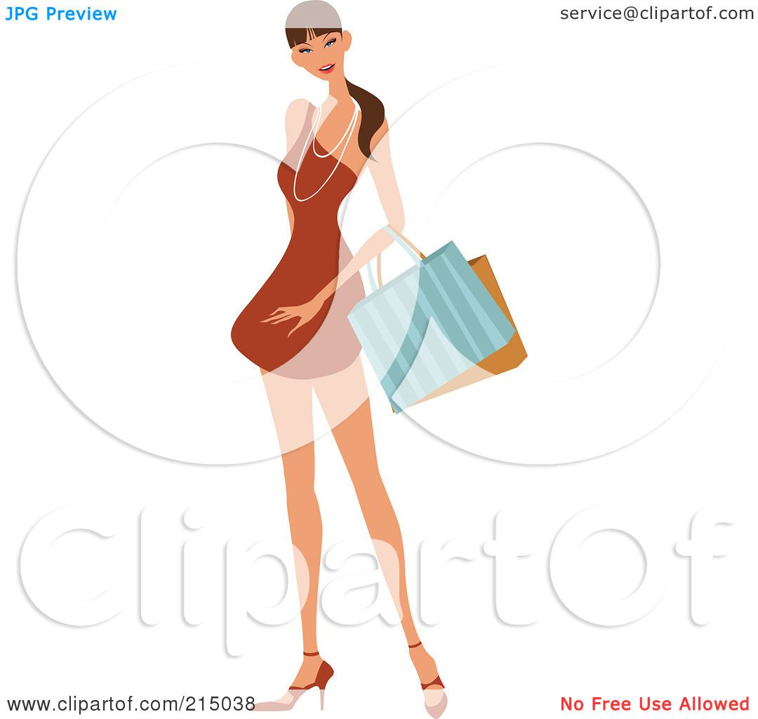 Royalty-Free (RF) Clipart Illustration Of A Pretty Lady