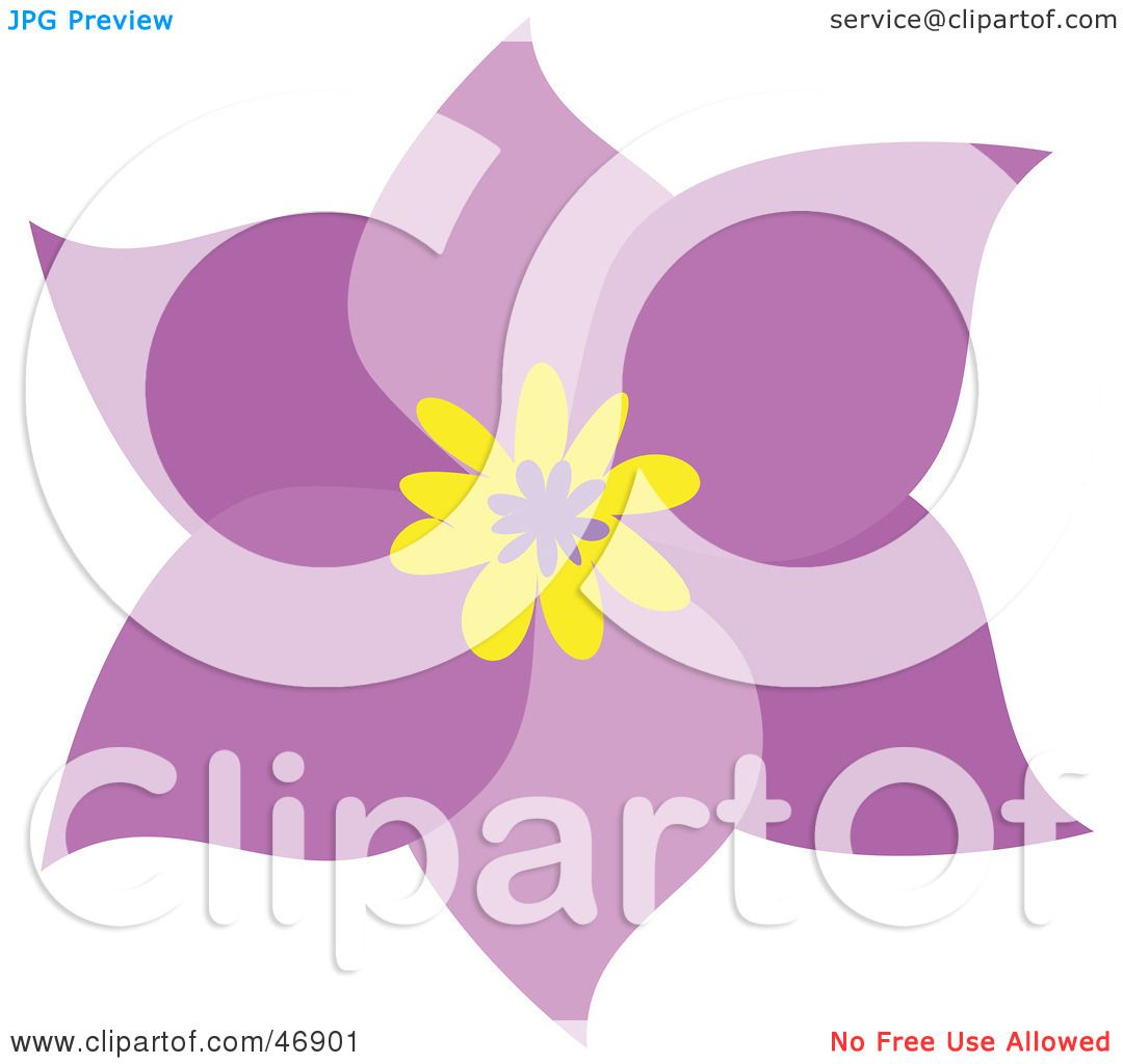 Royalty Free Rf Clipart Illustration Of A Pretty Six Petal Pink