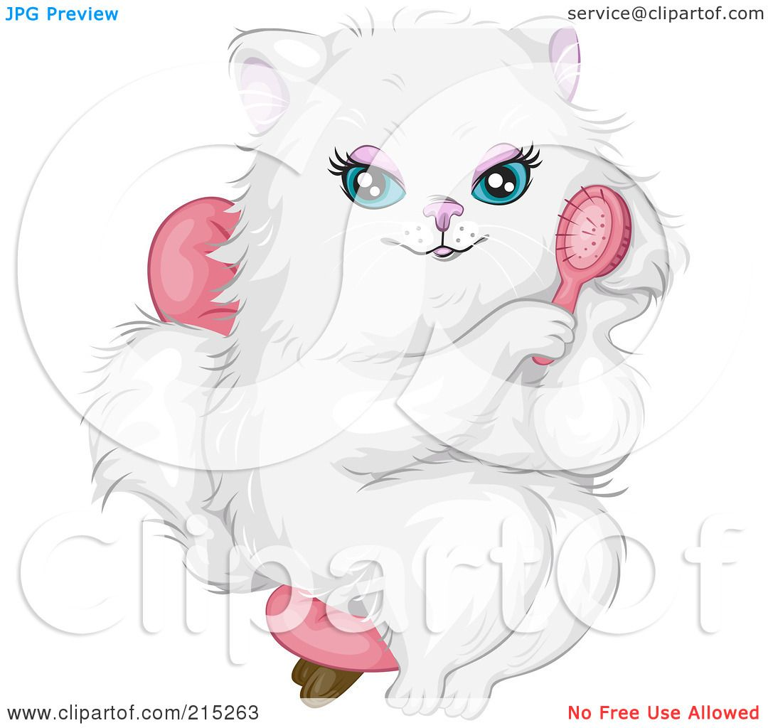 Royalty Free Rf Clipart Illustration Of A Prissy White