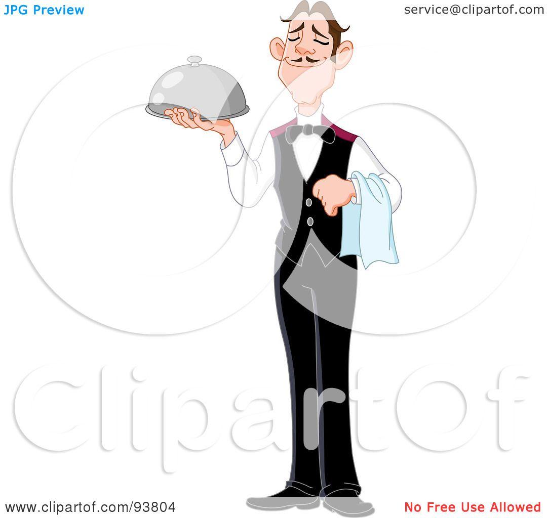 Royalty-Free  RF  Clipart  Butler Servant Clipart