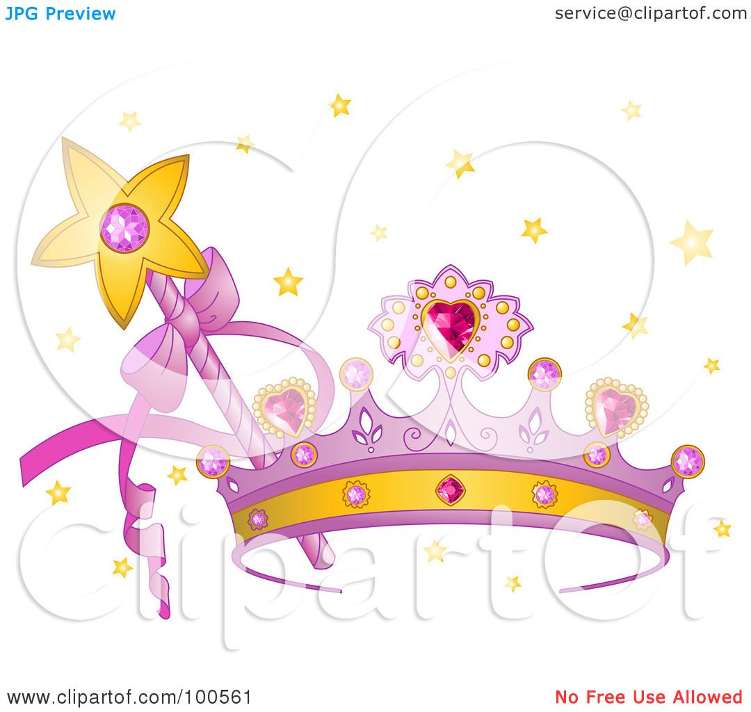Purple Princess Crown Clipart of a Purple Princess Crown